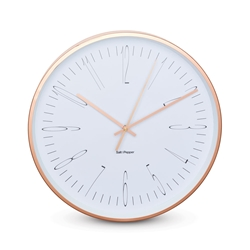 ZONE Wall Clock - White and Rose Gold