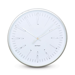 ZONE Wall Clock - White and Silver