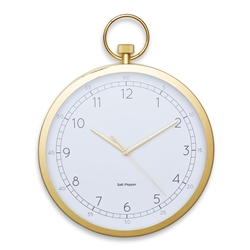 ZONE Wall Clock - Stopwatch Gold