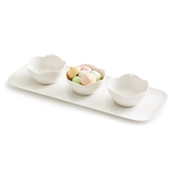 PETAL Bowls with Tray - Set of 4