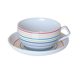 STUDIO Teacup and Saucer - Multi Cross