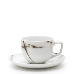 MARBLE Teacup and Saucer