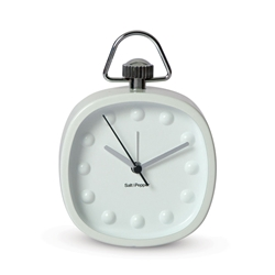 ZONE Contemporary Alarm Clock - White