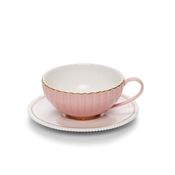 ECLECTIC Teacup and Saucer - Pink