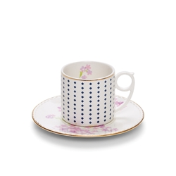 ECLECTIC Teacup and Saucer - Floral