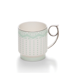 ECLECTIC Coffee Mugs - Set of 2 - Green Stripe