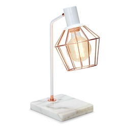TORONTO Table Lamp - Rose Gold with Marble Base
