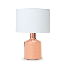 DUBAI Table Lamp - Rose Gold with White Shade