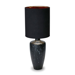 FLORENCE Table Lamp - Black Marble with Black Shade