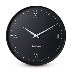 PRAHRAN Wall Clock - Black