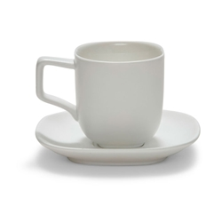 SHADE Espresso Cup and Saucer - White