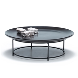 SKYLINE Platter - Footed - Black