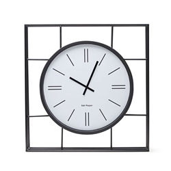 MIDTOWN Wall Clock - Black