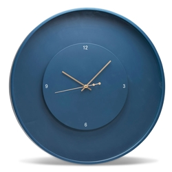 ZONE Floating Wall Clock - Large - Blue