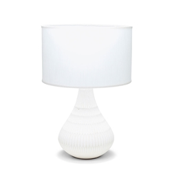 KALA Table Lamp - White with Natural Base - 56cm