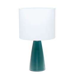 AUDREY Table Lamp - White with Forrest Base