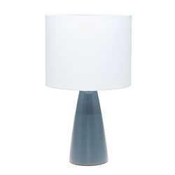 AUDREY Table Lamp - White with Grey Base