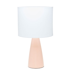 AUDREY Table Lamp - White with Blush Base