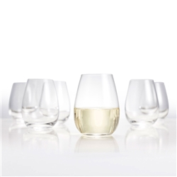 SALUT Stem less Wine Glasses - Set of 6