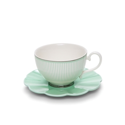 ECLECTIC Tea Cup and Saucer - 230ml - Green