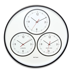 DAKAR Wall Clock - 3 Zones