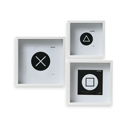 IMAGE Frame Set of 3- White