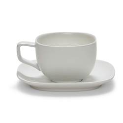 SHADE Teacup and Saucer - White