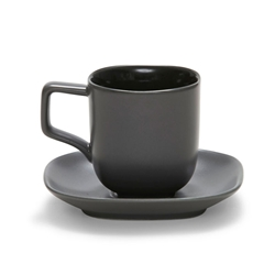 SHADE Espresso Cup and Saucer - Charcoal