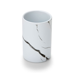 SUDS Toothbrush Tumbler - White Marble