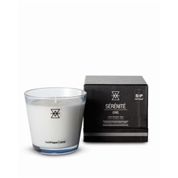 SERENITE  GRIS Candle- Lemon, Bergamot & Musk - Small