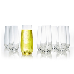 POLO Stemless Champagne Flute - Set of 8