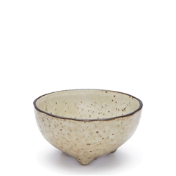 NOMAD Bowl - 11cm - Footed - Natural
