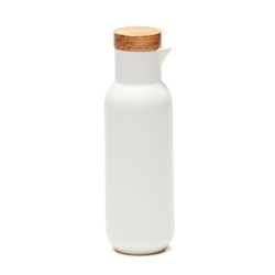HUDSON Oil and Vinegar Bottles -Set of 2  - White