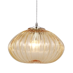 Home Design Zucca Pendant - Amber - Large