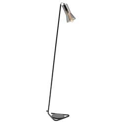 JAZZ Floor Lamp - Smoke with Black Base