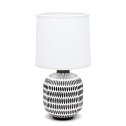 KALA Table Lamp - White with Black Base - 40cm
