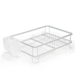 SUBLIME Dish Rack with Tray - 41.5cm - Silver
