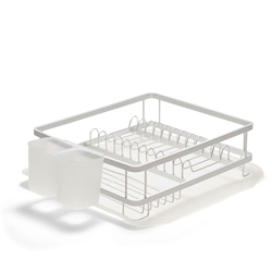 SUBLIME Dish Rack with Tray - 34.5cm - Silver