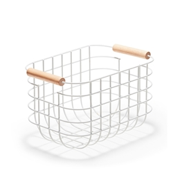 CHELSEA Wire Basket - 27cm - White