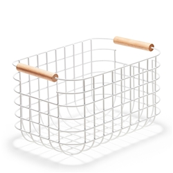 CHELSEA Wire Basket - 30cm - White
