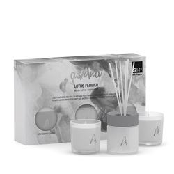 ASANA LOTUS FLOWER Gift Set - Lotus Flower, Melon & Sandalwood - 3 Piece