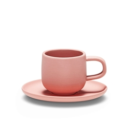 FORM Espresso Cup & Saucer - 85ml - Clay