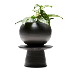 TOTEM Planter - Two Piece - Black - Medium