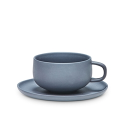 FORM Tea Cup & Saucer - 210ml - Black