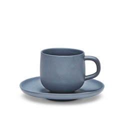 FORM Espresso Cup & Saucer - 85ml - Black