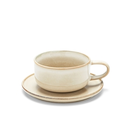 RELIC Tea Cup & Saucer - 300ml - Natural