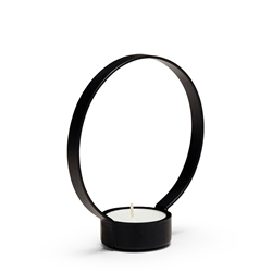 HALO Candle Holder - Black - Small