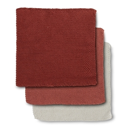 ADELINE Dish Cloth - Set of 3 - Clay
