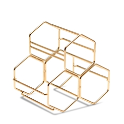 HONEYCOMB Wine Rack - Gold