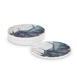 PARLOUR Coasters - Set of 4 - Leaf